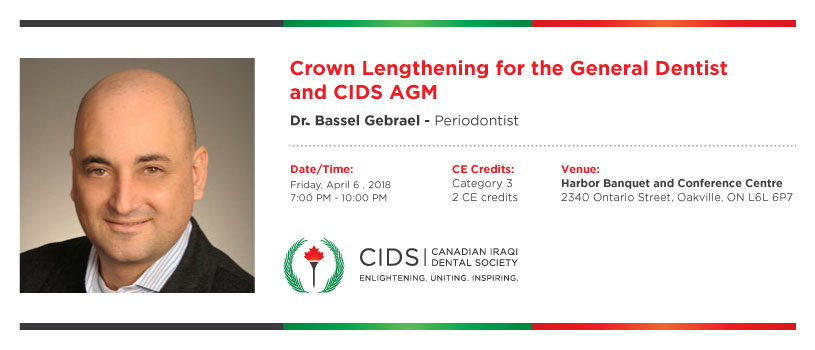 Crown Lengthening for the General Dentist and CIDS AGM