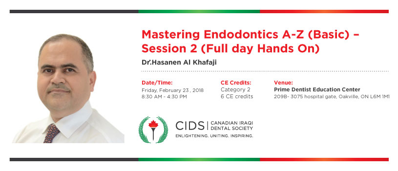 Mastering Endodontics A-Z (Advanced) – Session 2 (Full day Hands On)